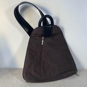 NWOT Baggallini Metro Brown Backpack/Crossbody Bag